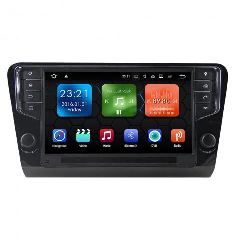 9'' Android 8.0 Octa-core 4GB+32GB 1024*600 HD Capacitive Touch Screen Autoradio Für Skoda Octavia