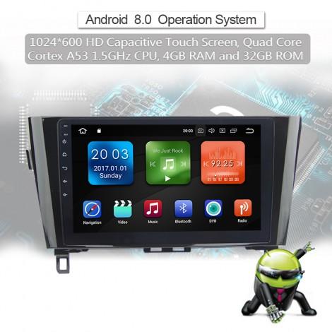 10.1''2 din Android 8.0 Octa 8 Kern 4G RAM Autoadio / Multimedia Player für Nissan X-trail & Qashqai(2014- )