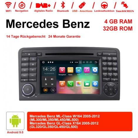 7 Zoll Android 9.0  Autoradio / Multimedia 4GB RAM 32GB ROM Für  Benz W164  X164