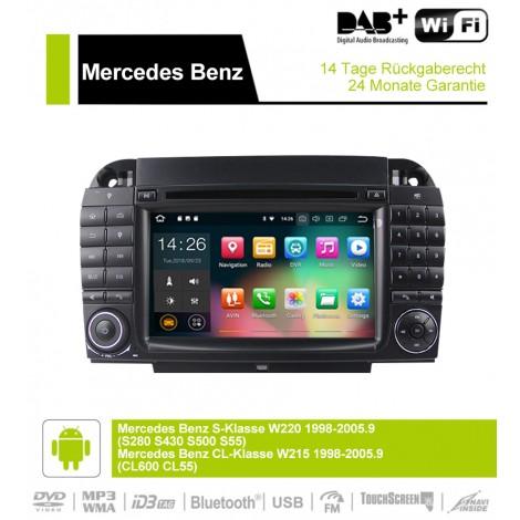 7 Zoll Android 9.0  Autoradio / Multimedia 4GB RAM 32GB ROM  Für Benz W220  W215