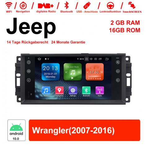7 Zoll Android 10.0 Autoradio / Multimedia 2GB RAM 16GB ROM Für Jeep Wrangler