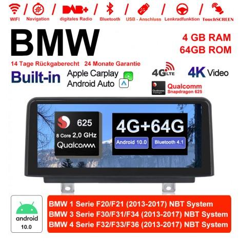 10.25 Zoll Qualcomm Snapdragon 625 (MSM8953) 8Core A53 2.0 GHZ Android 10.0 4G LTE Autoradio/Multimedia USB WiFi Navi Carplay Für BMW 1 Series/3 Serie