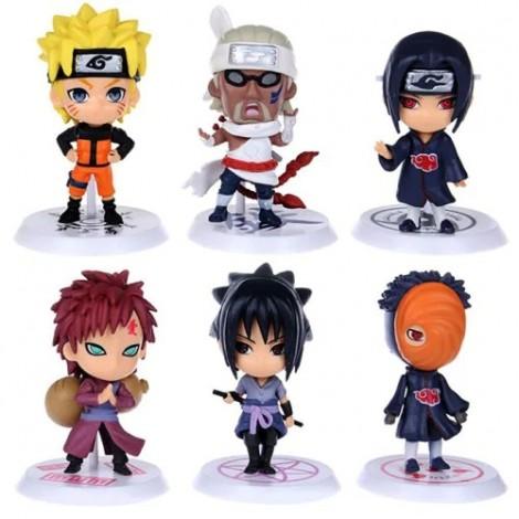Naruto Anime Action Modell Karte PVC ABS Modell 6 Stück / Set