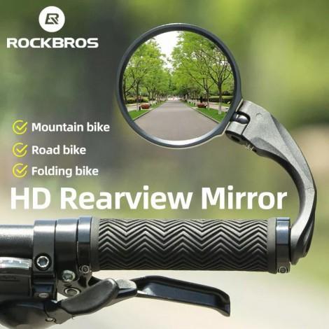 ROCKBRSO HD Ansicht MTB Rennrad Spiegel 360 Winkel Einstellbar Lenker Breite Palette Rückspiegel Für Motorrad Zubehör