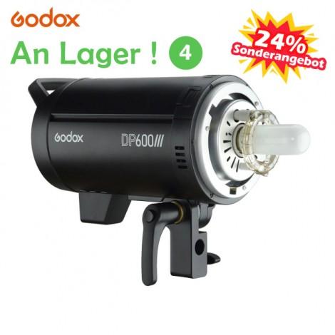 Godox DP600III Professional Studio Blitzlicht Modellierlicht 600Ws 2.4G Wireless X-System Blitzlicht mit Bowens Mount 5600K Farbtemperatur-Fotoblitzen für Hochzeitsporträts Modewerbung