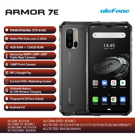 Ulefone Armor 7E Robustes Mobiltelefon Helio P90 4GB + 128G Smartphone 2.4G / 5G WiFi Wasserdicht IP68 Android 9.0 NFC / 48MP
