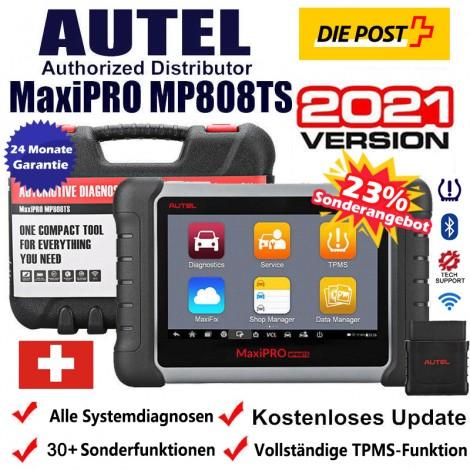 Autel MaxiPRO MP808TS Vollständige TPMS/RKDS Bluetooth OBD2 Alle Systems und 24 Sonderfunktionen  KFZ Diagnosegerät/ KFZ Fehlercode TPMS Scanner