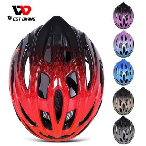WEST BIKING Ultraleicht Fahrrad Helm Einstellbar MTB Road Fahrrad Helm Radfahren Motorrad Sport Männer Frauen Sicherheit Kappe Schutz