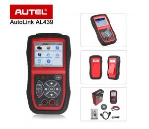 NEU Autel Autolink AL439 OBD2 OBDII Scanner / Codeleser Die patentierte One-Click-I / M Readiness Key Multimeters AVO Meter