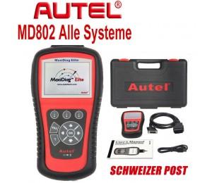 Autel Maxidiag Elite MD802 OBD2 EOBD Scan Tool Alle Systeme Ölservice-Reset EPB