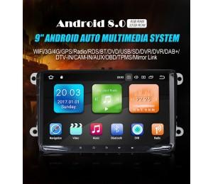 9'' Android 8.0 Octa-core 4GB RAM 32GB Flash Autoradio / Multimedia Für VW Magotan,Passat,Jetta,Golf,Tiguan,Touran,Seat,Skoda