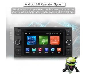 Android 8.0 Octa-core 4GB RAM 32GB Car DVD  Für  FORD Focus Fiesta Focus Fusion C/S-Max Transit Mondeo Farbe Grau