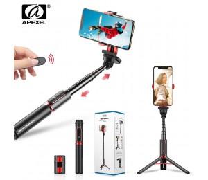 APEXEL Stabilisator Selfie Stick Smartphone Stativ Telefon Halter mit Bluetooth Selfie Fernbedienung für iPhone Android Handys