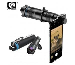 APEXEL HD 28X tele zoom objektiv monokulare Optic telefon kamera objektiv + Optional mini selfie stativ für Huawei Xiaomi alle Smartphone
