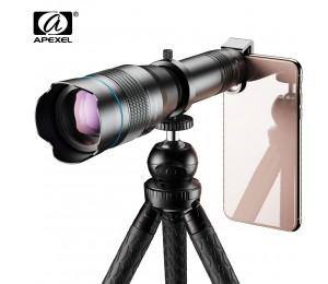 APEXEL HD 60X metall teleskop teleobjektiv monokulare mobile objektiv + Optional erweiterbar stativ für iPhone Huawei alle Smartphones