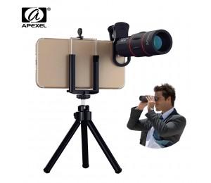 APEXEL 18X Teleskop Zoom objektiv Monokulare Handy kamera Objektiv für iPhone Samsung ... Smartphones für Camping jagd Sport