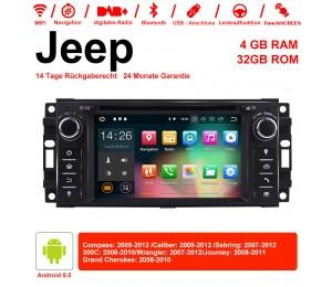 6.2 Zoll Android 9.0 Autoradio / Multimedia 4GB RAM 32GB ROM Für Jeep Wrangler Compass Caliber Sebring Journey