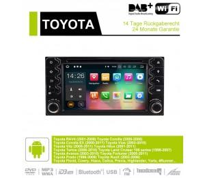 6.2 Zoll Android 9.0 Autoradio / Multimedia 4GB RAM 32GB ROM Für Toyota Corolla EX RAV4  Vios Vitz Terios  Prado