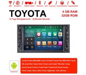 7 Zoll Android 9.0 Autoradio / Multimedia 4GB RAM 32GB ROM Für Toyota Corolla Vios Terios  Land Cruiser Avanza RunX