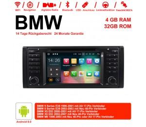 7 Zoll Android 9.0 Autoradio/Multimedia 4GB RAM 32GB ROM Für BMW 5series E39 X5 E53 M5