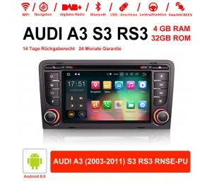 7 Zoll Android 9.0 Autoradio / Multimedia 4GB RAM 32GB ROM Für AUDI A3 (2003-2011) S3 RS3 RNSE-PU