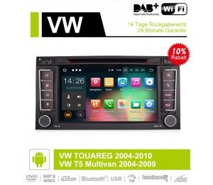 7 Zoll Android 9.0 Autoradio/Multimedia 4GB RAM 32GB ROM Für VW TOUAREG 2004-2010,VW T5 Multivan 2004-2009