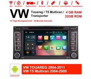 7 Zoll Android 9.0 Autoradio/Multimedia 4GB RAM 32GB ROM Für VW TOUAREG 2004-2011,VW T5 Multivan 2004-2009