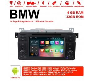 7 Zoll Android 9.0 Autoradio 4GB RAM 32GB ROM Für BMW 3 Series E46 BMW M3 Rover 75