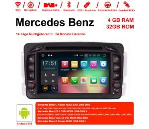7 Zoll Android 9.0  Autoradio / Multimedia 4GB RAM 32GB ROM Für Benz C-klasse W203 W209 G-klasse W463 Eine Klasse W168 Vito