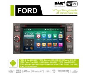 Android 9.0 Octa-core 4GB RAM 32GB Car DVD Für FORD Focus Fiesta Focus Fusion C/S-Max Transit Mondeo Farbe Grau