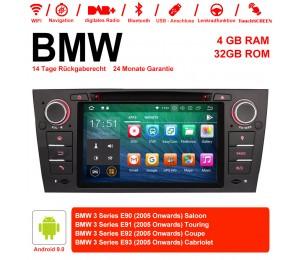 7 Zoll Android 9.0  Autoradio / Multimedia 4GB RAM 32GB ROM Für 3 Serie BMW E90 E91 E92 E93 318 320 325  Manuelle Klima klimaanlage