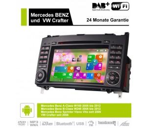 "7"" Android 8.0 Octa-core 4GB RAM 32GB ROM Autoradio/ Multimedia Für Mercedes BENZ A Klasse W169, B Klasse W245, Sprinter Viano Vito und VW Crafter"