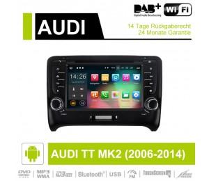 7 Zoll Android 9.0 Autoradio/Multimedia 2GB RAM 16GB ROM Für Audi TT MK2