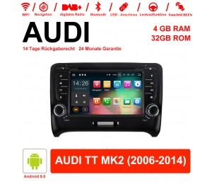 7 Zoll Android 9.0 Autoradio / Multimedia 4GB RAM 32GB ROM Für AUDI TT MK2