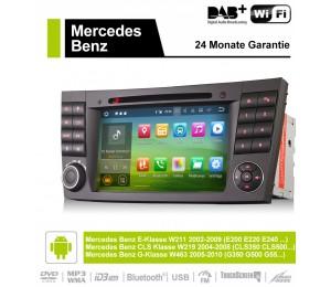 2din Android 9.0 Octa-core 4 GB RAM 32GB ROM Autoradio / Multimedia Für E-Klasse W211,CLS Klasse W219,G-Klasse W463