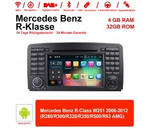 7 Zoll Android 9.0  Autoradio / Multimedia 4GB RAM 32GB ROM Für Benz R-Class W251 2006-2012