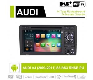 7 Zoll Android 9.0 Autoradio/Multimedia 2GB RAM 16GB ROM Für AUDI A3 (2003-2011) S3 RS3 RNSE-PU