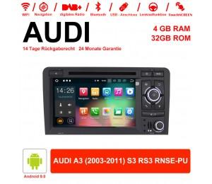 7 Zoll Android 9.0 Autoradio 4GB RAM 32GB ROM Für AUDI A3 (2003-2011) S3 RS3 RNSE-PU