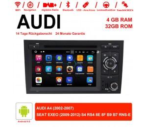 7 Zoll Android 9.0  Autoradio / Multimedia 4GB RAM 32GB ROM Für AUDI A4 SEAT EXEO S4 RS4 8E 8F B9 B7 RNS-E