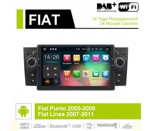 7 Zoll Android 9.0 Autoradio / Multimedia 4GB RAM 32GB ROM Für Fiat Punto Linea