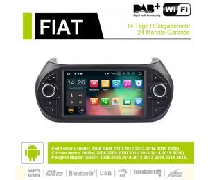 7  Zoll Android 9.0 Autoradio / Multimedia 4GB RAM 32GB ROM  Für Fiat Fiorino Citroen Nemo Peugeot Bipper