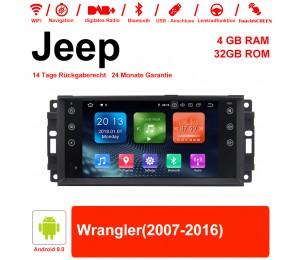7 Zoll Android 9.0 Autoradio / Multimedia 4GB RAM 32GB ROM Für Jeep Wrangler