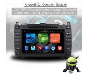 8 Zoll Android 8.0 Octa-core 4GB RAM 32GB ROM Autoradio/ Multimedia Für Mercedes BENZ A Klasse W169, B Klasse W245, Sprinter Viano Vito und VW Crafter