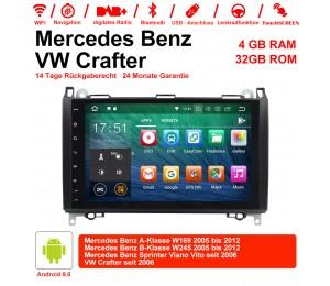9 Zoll Android 9.0 Autoradio / Multimedia 4GB RAM 32GB ROM Für BENZ W169 W245 VW Crafter seit