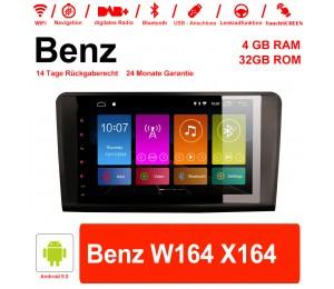9 Zoll Android 9.0 Autoradio / Multimedia 4GB RAM 32GB ROM Für Benz W164 X164