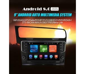 NEU 9'' Android 8.0 Octa core 4GB+32GB 1024*600 HD Autoradio mit GPS USB Bluetooth Für VW Golf7