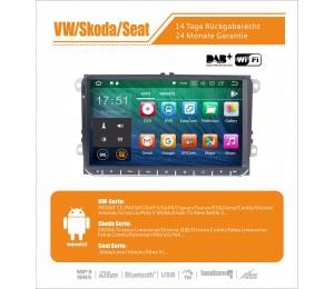 9 Zoll Android 9.0 Autoradio / Multimedia 4GB RAM 32GB ROM Für VW Magotan,Passat,Jetta,Golf,Tiguan,Touran,Seat,Skoda