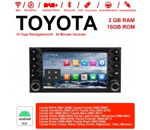 6.2 Zoll Android 10.0 Autoradio/Multimedia 2GB RAM 16GB ROM Für Toyota Corolla Camry Prado RAV4 Hilux VIOS