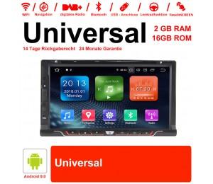 6.95 Zoll Android 9.0 Autoradio / Multimedia 2GB RAM 16GB ROM für Universal