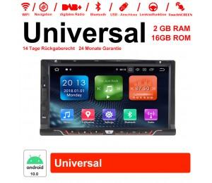 6.95 Zoll Android 10.0 Autoradio / Multimedia 2GB RAM 16GB ROM für Universal